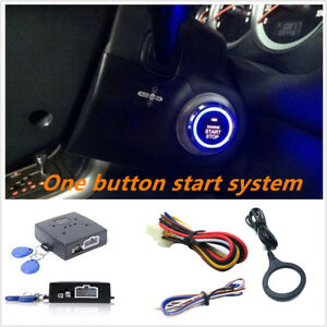Auto Engine Push Start Button Car Entry Start Stop Ignition Starter
