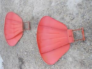 Case Vac Tractor Pair Set Of Clamshell Clam Shell Fenders Mounting Hardware