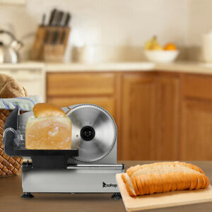 7 5 150w Electric Food Slicer Cheese Meat Cutter Kitchen Home W 2 Blades 110v