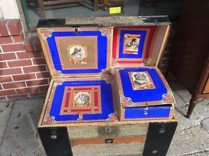 Antique Dome Top Trunk With Amazing Interior