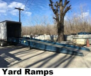 Yard Dock Trailer Container Loading Ramp 16 000 Lbs 84 Wide 36 W level Off