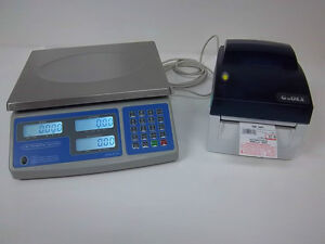Sws pcs 60 Lb Price Computing Scale lbs kgs ozs W godex Dt4 Barcode Printer 8040