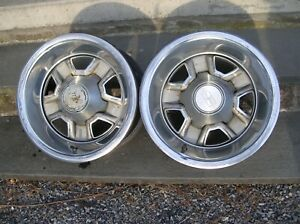15x7 Oldsmobile Ssiii Rally Wheels With Trim Rings Delta 88 Center Caps 5x4 75