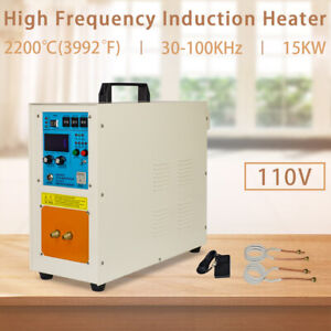 110v 15kw 30 100 Khz High Frequency Induction Heater Furnace 2200 3992
