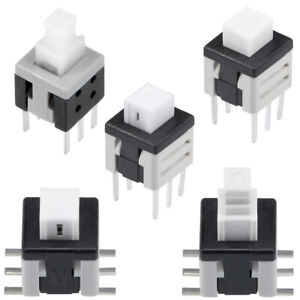Pcb Dip Smd Smt Mounting Tact Tactile Push Button Switch Latching 6 Pin