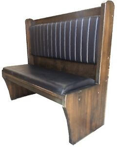 Briarwood Restaurant Booth Single 2800s 48 36 Wood Seat back