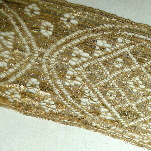 Antique French Gold Metal Lace