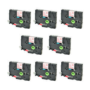 8 Pk Tz Tze M32 Red On Matt Clear Label Tape For Brother P touch D6001 2 12mm