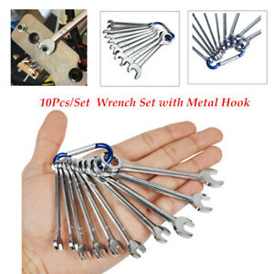 Mini Combination Wrench 10pcs Set 4 11mm Metric Small Engineer Spanner Durable