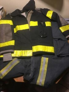 Veridian Firefighter Turnout Bunker Pants Size 44x32 With Suspenders