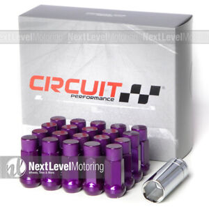 Circuit Performance Cp50 Extended Closed End Lug Nut 12x1 25 Purple Fits Nissan