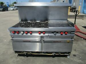 Vulcan 6 Burner Range W 24 Griddle And Double Oven