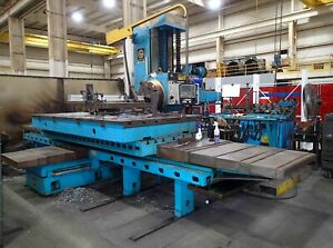 Giddings Lewis Fraser A130b Cnc Boring Mill 5 Spindle 130 X travel