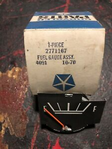 68 71 Dodge Dart Fuel Gas Gauge Standard Cluster 2771167 Mopar Chrysler