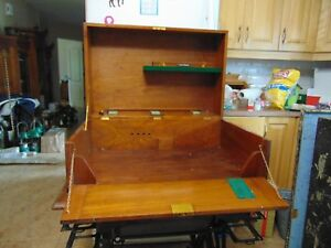 Vintage Wood Trunk Chest Nice 6510