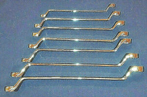 Craftsman 7 Pc Metric 12 Pt Double Box Deep Offset Wrench Polished Set Free Ship