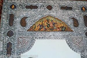 Exceptional Xl Museum Worthy Persian Qajar Antique Silver Miniature Mirror