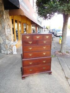 Grand Mahogany Tall Chest Crafted By Craftique 20th Century