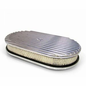 15 Aluminum Oval Gm Finned Air Cleaner Filter Fits Edelbrock Holly Carburator V