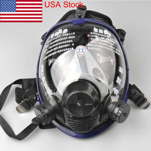 Usa Large Lens Silicone Full Face Gas Mask Dust Painting Spraying Respirator