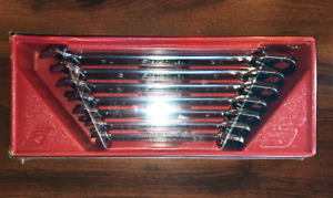 New Snap on Soxrr707 7 Pc 12 point Sae Flank Ratcheting Combination Wrench Set