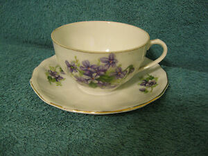 Hand Painted Tea Cup Saucer Occupied Japan Item A333