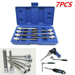 3 8 Drive Long Ball Head Allen Wrench Removing Tool Hex Bit Impact Socket Set