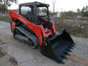 2018 Kubota Svl75 2 Track Skid Steer Loader With 4 in 1 Tooth Bucket Ship 500