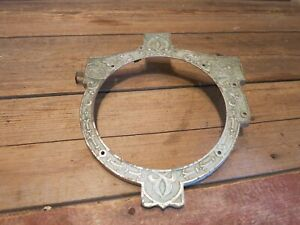 Antique Vintage Old Stove Part Burner Exhaust Cover Cast Iron Steampunk