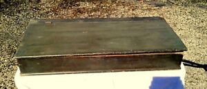 Primitive Antique Dry Sink Top With Zinc Lining Painted Dovetailed Cas