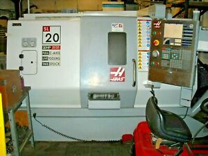 2007 Haas Sl20 Cnc Turning Center With Live Tooling And Parts Catcher