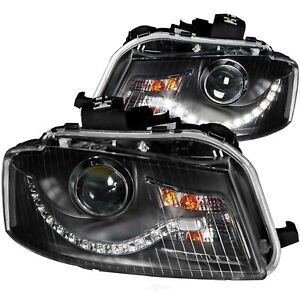 Headlight Assembly projector With Halo Clear Lens R8 Led Style Black Anzo 121322