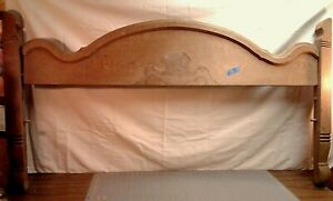 Victorian Bed Foot Board Parts Walnut 1870 Era Stripped