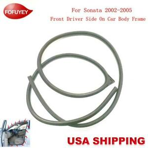 Car Body Side Weatherstrip Seal Rubber Front Left For Hyundai Sonata 2002 2005
