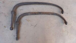 Early 1928 Ar Model A Ford Coupe Roadster Rear Fender Brackets Original Braces