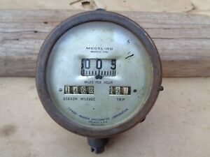 Vintage Stewart Warner Speedometer Model 100 F 14 Original 1915 Model T Ford