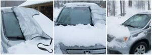 Snowoff Car Windshield Snow Ice Cover Sun Shade Protector Windproof Straps