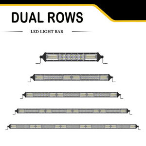 4 12 22 32 42 52 Inch Led Light Bar Spot Flood Combo Offroad Ute 4wd 2row