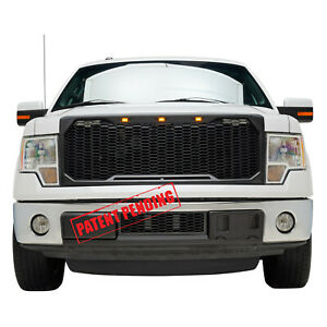 For 09 14 Ford F150 Oe Bumper Lower Abs Mesh Bumper Black Grill Grille