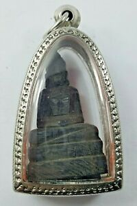 Buddha Wood Carving Thai Art Small Size Hanging Neck M 208