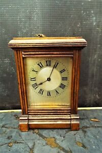 Small Red Walnut English Library Clock Timepiece