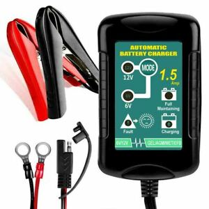 6v 12v 1 5a Battery Charger Maintainer Auto Trickle Charger Wet Gel Agm