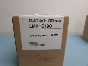 Sony Lmp c190 Projector Bulb New In Box Oem Lamp For Many Vpl cx Series 24c