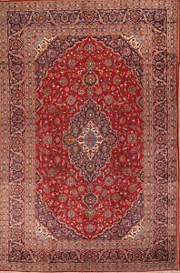 Grand Over Size Old Vintage Floral 10x15 Wool Kaashaan Oriental Area Rug