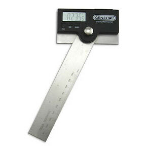 General Tools 1702 Pro angle 6 Stainless Steel Digital Protractor