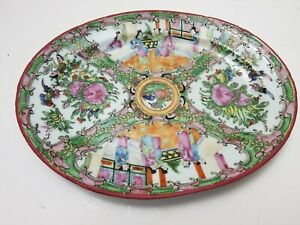 Antique 19th Century Rose Medallion 12 Platter Chinese Export Goods 1880s