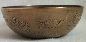 Japanese Meiji Bronze Bowl From El Riad Shriner S Temple 1911 Signed