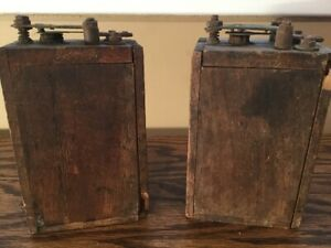 2 Antique Ford Model T Car Wood Ignition Coil Battery Box Steam Punk