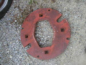 Farmall 460 504 544 706 806 Tractor Nice Orgnl Ih Rear Solid Whole 145lb Weights