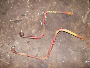 Farmall 504 Utility Tractor Ih Factory Power Steering 2 Steel Lines W Ends